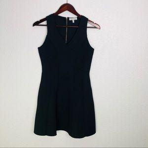 Anthropologie Monteau Black V-Neck Dress | Medium